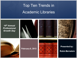 Top Ten Trends in Academic Libraries