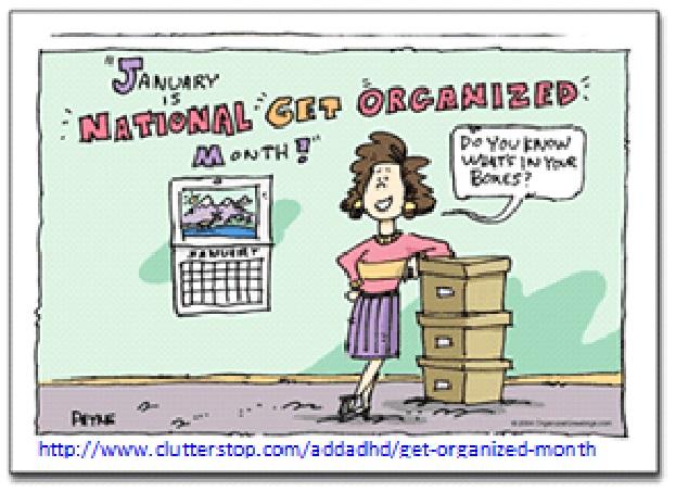 Ntl Organized Month Cartoon